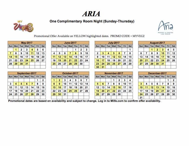 May Calendar Las Vegas : Aria comp dec mark s las vegas