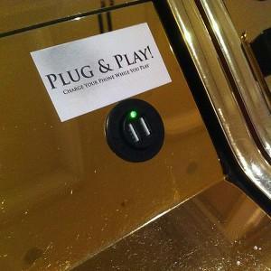 USB charging port on Venetian slot machine