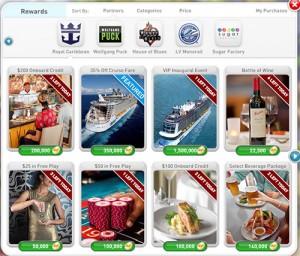 myVEGAS Royal Caribbean Cruise Rewards page 1
