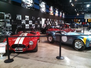 A few of the cars on display at the Shelby Heritage Center