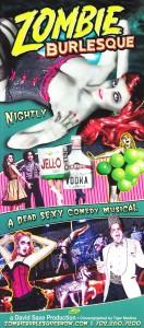 Zombie Burlesque Flier