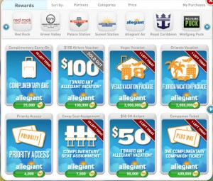 myVEGAS Allegiant Air Rewards