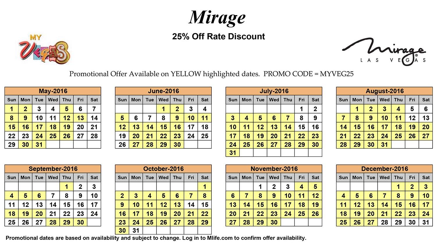 Calendar Las Vegas May : Mirage p mark s las vegas