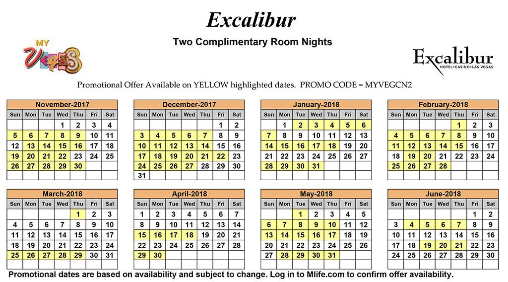 June Calendar Las Vegas : Excalibur ntcomp june mark s las vegas